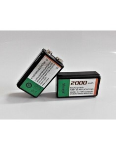NEW 2pcs 9v 2000mAh Ni-MH...
